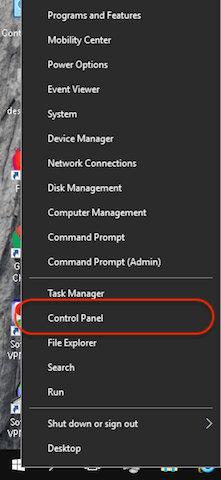 How to configure Windows 10 for proxy step 1