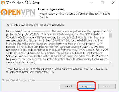 How to configure Windows 10 for OpenVPN step 6
