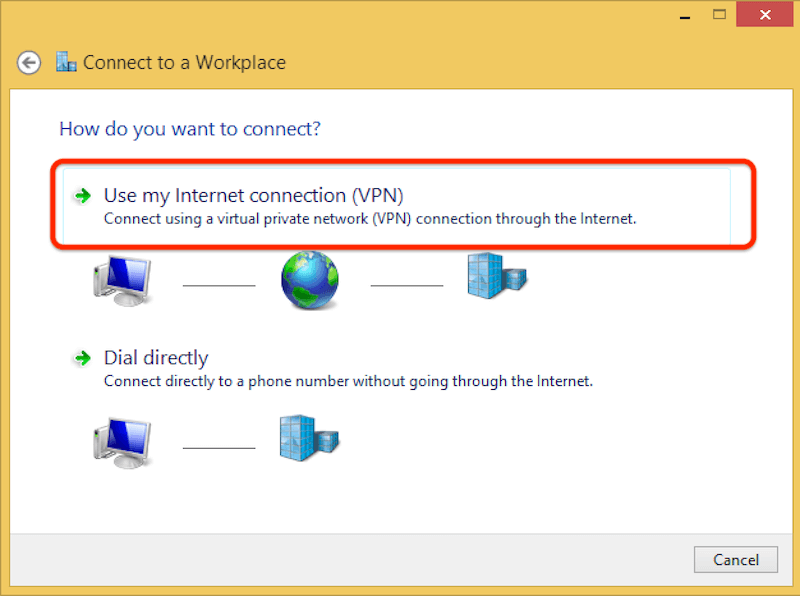 How to configure Windows 8 for l2tp step 4