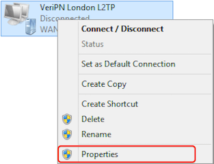 How to configure Windows 8 for l2tp step 8