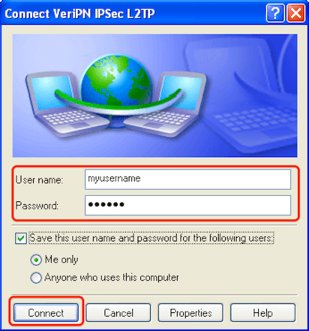 How to configure Windows XP for l2tp step 12