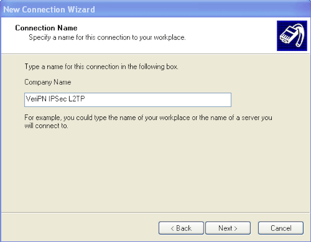 How to configure Windows XP for l2tp step 5