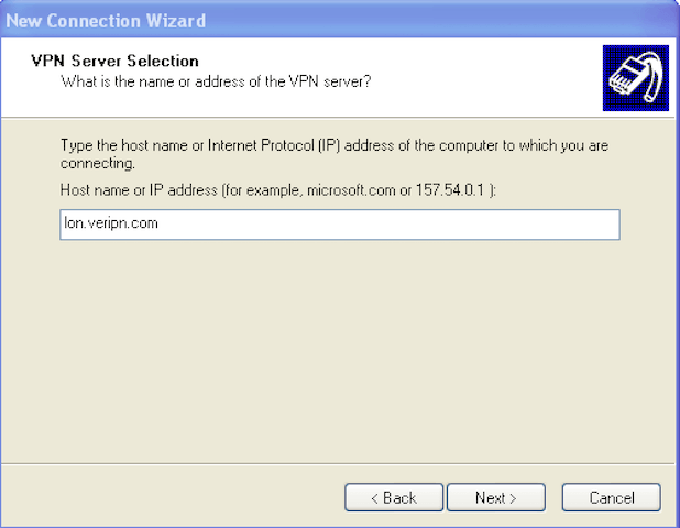 How to configure Windows XP for l2tp step 6