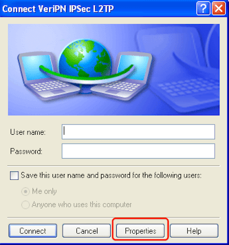 How to configure Windows XP for l2tp step 8